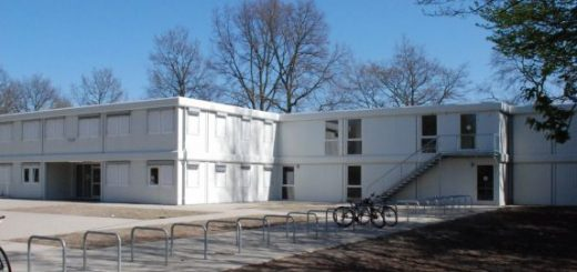 shipping container office building