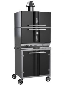 Built in charcoal BBQ with Kopa oven