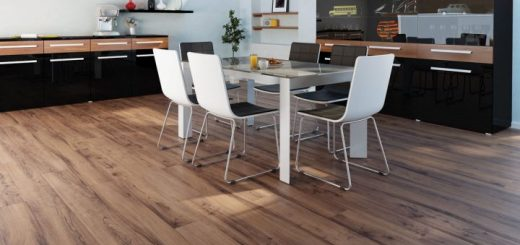 Walnut parquet flooring