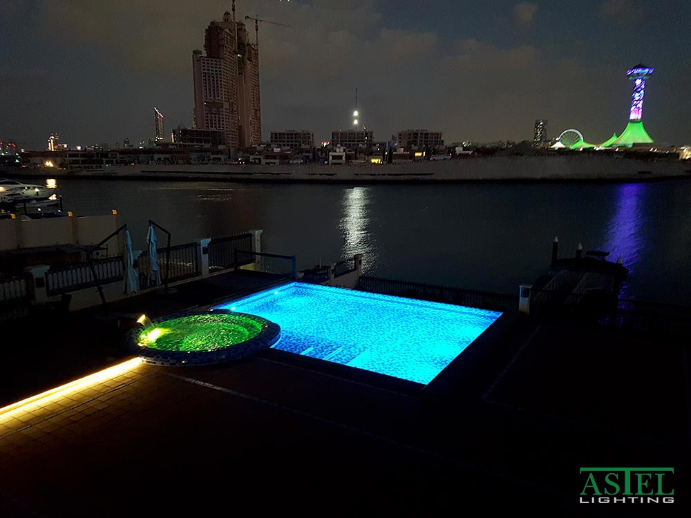 Pool LED lights under water