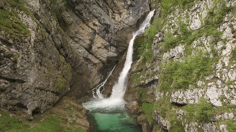 One of waterfall in Bohinj - Slavica