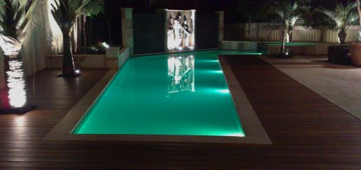 Pool light installation